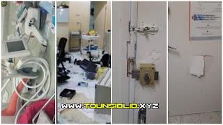 (بالفيديو و الصور) الاعتداء بالضرب و تكسير و سب على الطاقم الطبي بمعهد المنجي بن حميدة لأمراض الأعصاب،