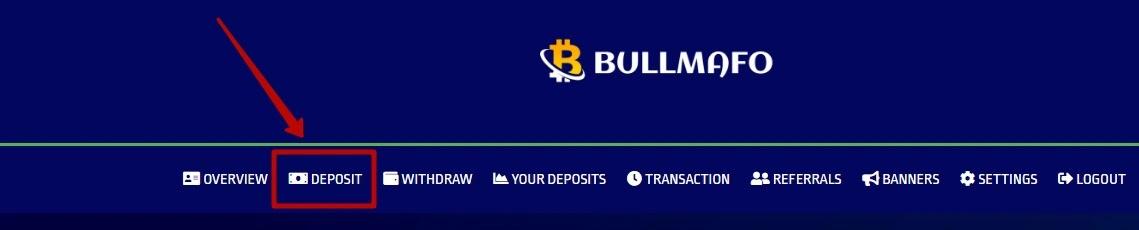 Пополнение баланса в Bullmafo