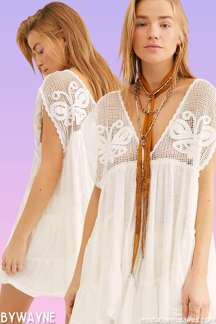 Moda casual primavera verano 2021 vestidos cortos