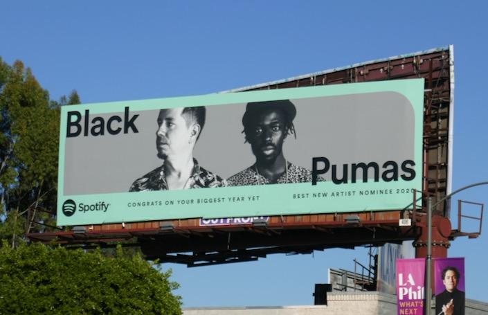 Black Pumas new artist nominee Spotify billboard
