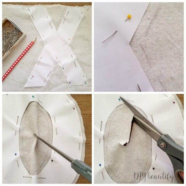 trace pattern and cut out drop cloth