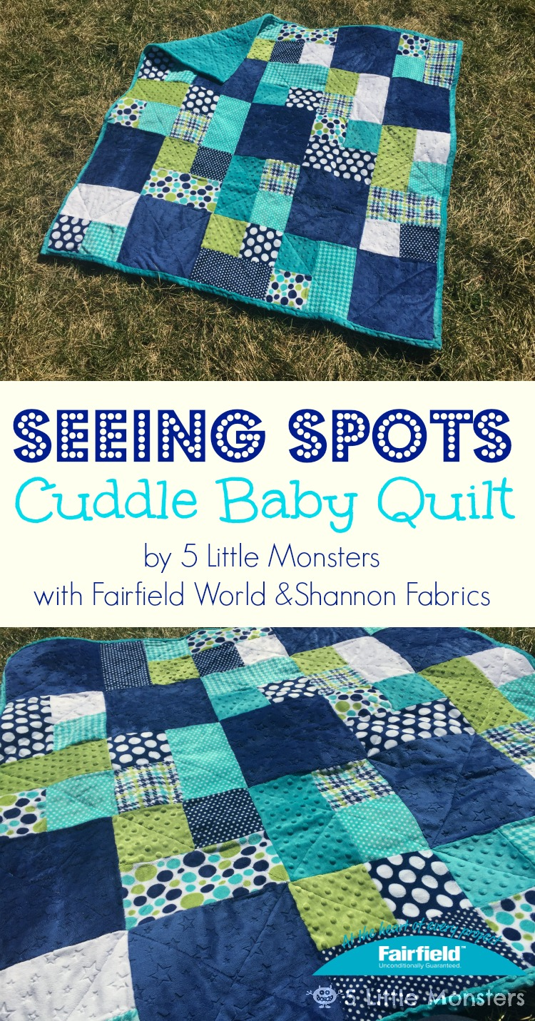5 Little Monsters Seeing Spots Cuddle Baby Quilt