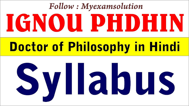 ignou phdhin, ignou phd syllabus