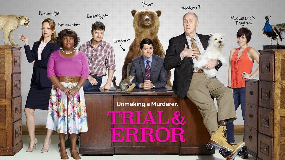 Poster promocional de Trial & Error, protagonizada por john Lithgow y Nicholas D'agosto