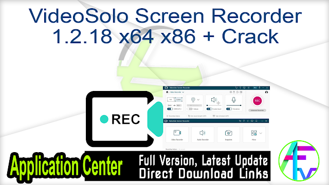 VideoSolo Screen Recorder 1.2.18 x64 x86 + Crack
