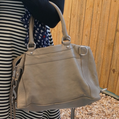Rebecca Minkoff MAB mini in soft grey | away from the blue