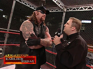 WWE / WWF - Armageddon 2000 - The Undertaker gave a compelling interview to Kevin Kelly