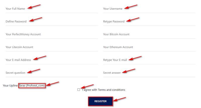 Регистрация в Forex Bang Trade 2