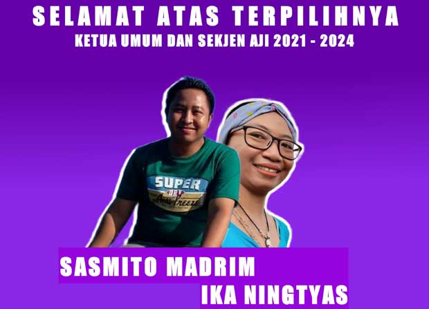 Selisih Tipis, Sasmito-Ika Nahkoda AJI Indonesia 2021-2024