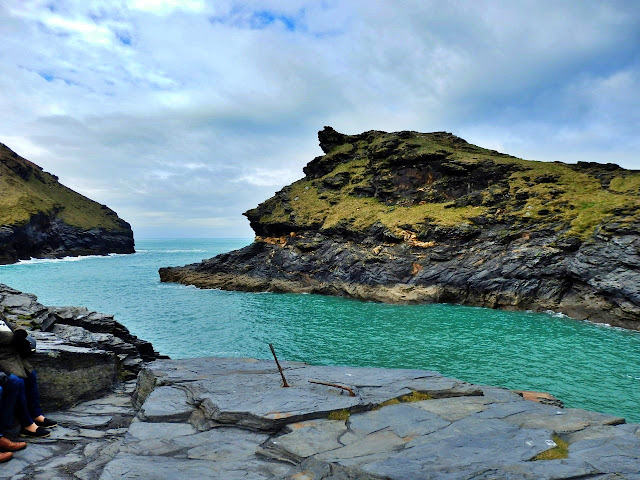 Inlet to the harbour from the sea at Boscastle, Cornwall