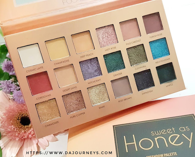 [Review] FOCALLURE Sweet as Honey Eyeshadow Palette