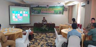 Kasi bidang evaluasi DAS dan Hutan Lindung Secara Resmi Membuka Pelatihan Dokumentasi.