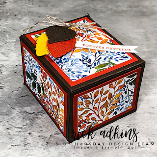 Get this weeks Free PDF Tutorial for this weeks 3d Thursday Fall Gift Box project.