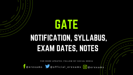 GATE 2021 - Notification, Syllabus, Exam Dates, Notes - ErExams - Engineering Exams Guidance RSS Feed  IMAGES, GIF, ANIMATED GIF, WALLPAPER, STICKER FOR WHATSAPP & FACEBOOK