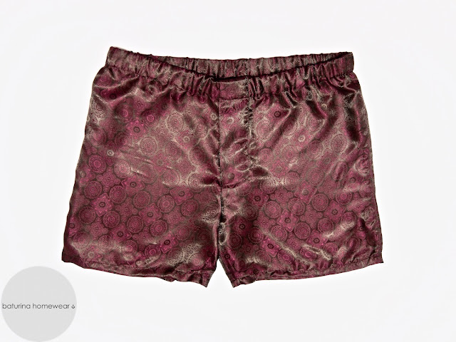 Mens red paisley silk boxer shorts classic luxury boxers