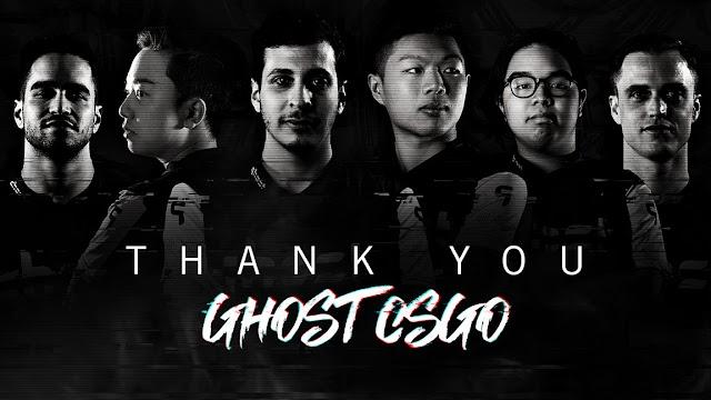 「Ghost Gaming」CSGO部門のWARDELLを除くメンバーとの契約が終了