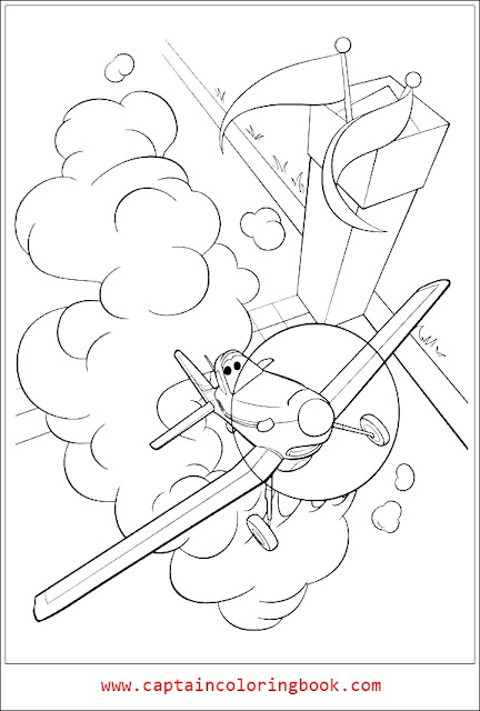 Dusty Crophopper Coloring Page