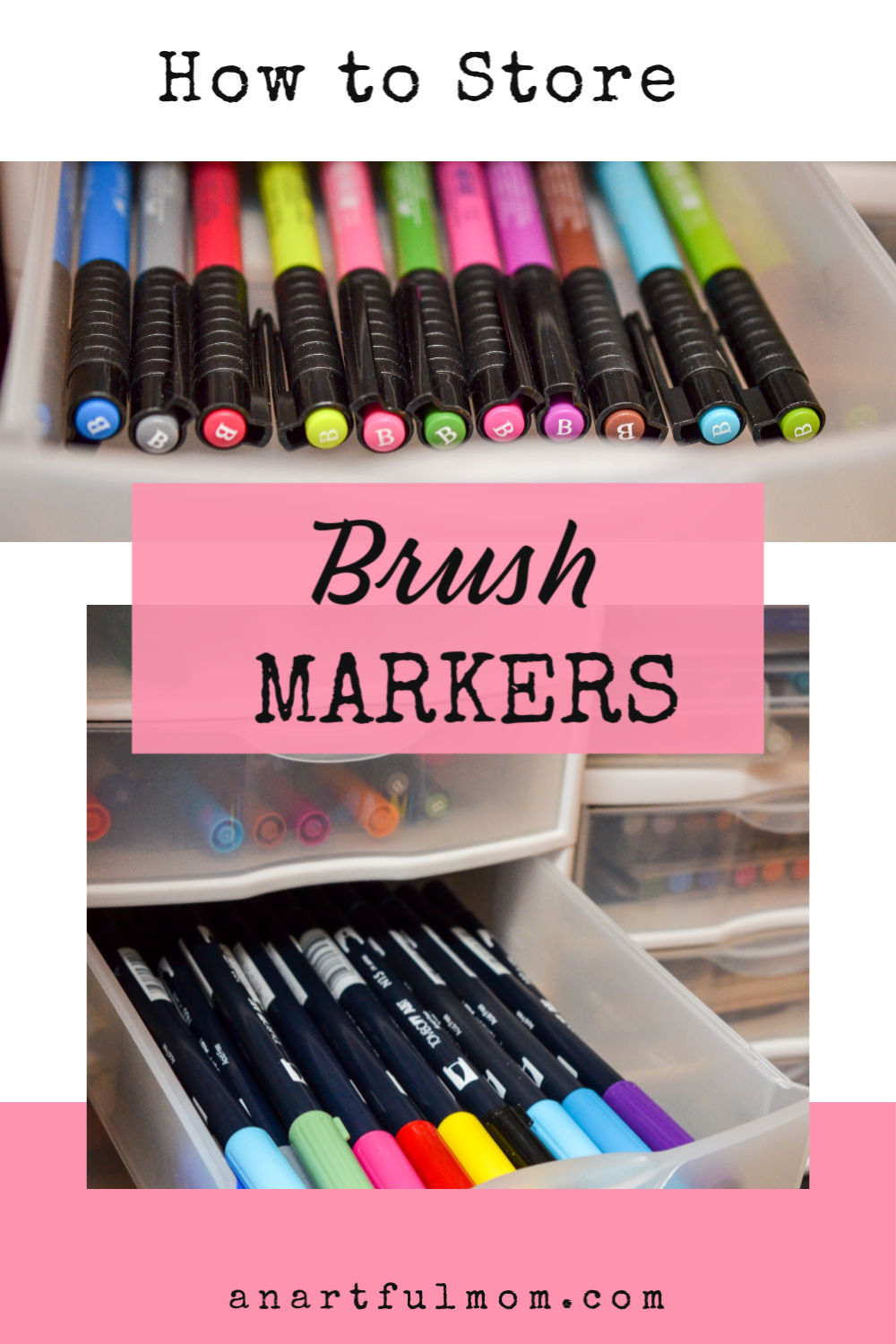 Brush Pen and Brush Marker Storage (Tombow, etc.)