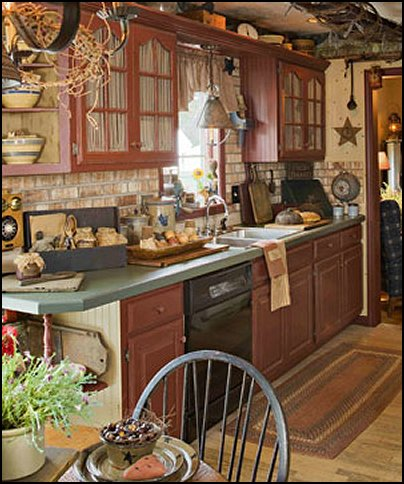 Decorating theme bedrooms maries manor primitive for Country themed kitchen ideas