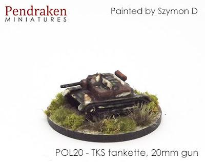 POL20 TKS tankette, 20mm gun (2)