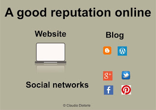 How can you create a good reputation in the web?