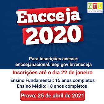 Nte Santa Cruz Do Sul De Olho No Encceja 2020 Provas Em Agosto