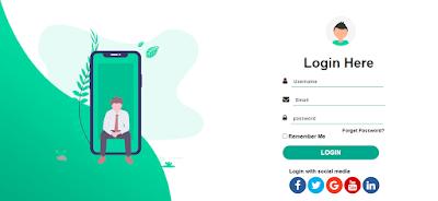 Creation Code Registration page Login  websites