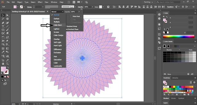 Swirling Artwork in Adobe Illustrator
