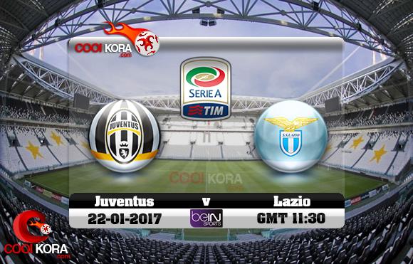 مشاهدة مباراة يوفنتوس ولاتسيو اليوم 22-1-2017 في الدوري الإيطالي