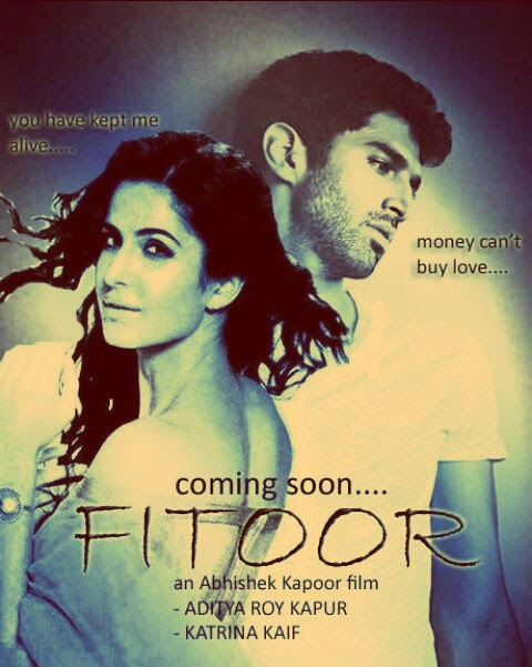 Katrina Kaif, Tabu new movie full star cast wiki with Aditya Roy Kapoor New Upcoming hindi movie Fitoor Poster