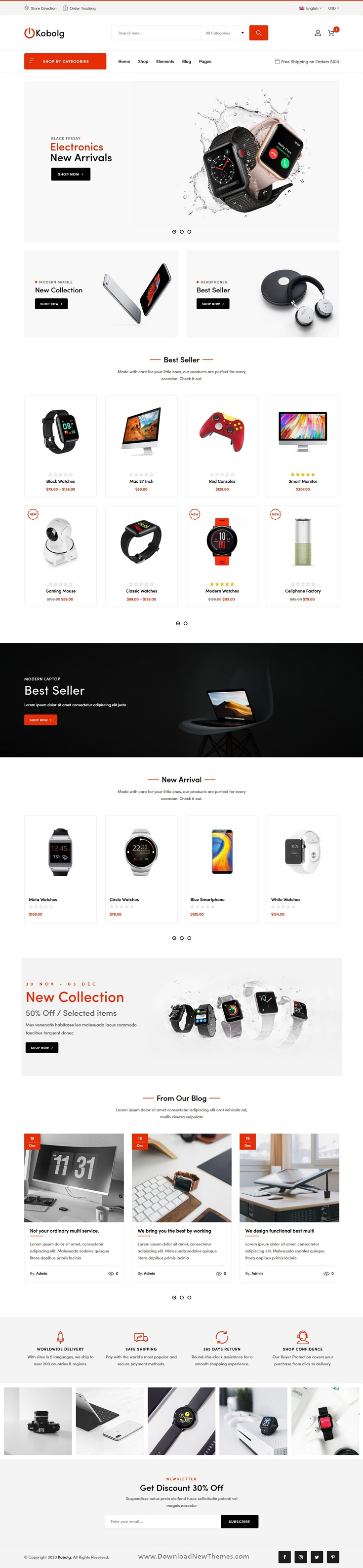 Electronics Store HTML Template