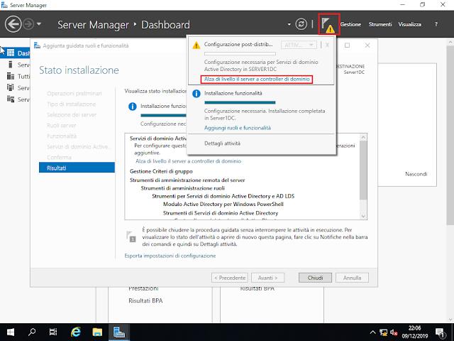 Windows Server 2019, Alza di livello il server a controller di dominio