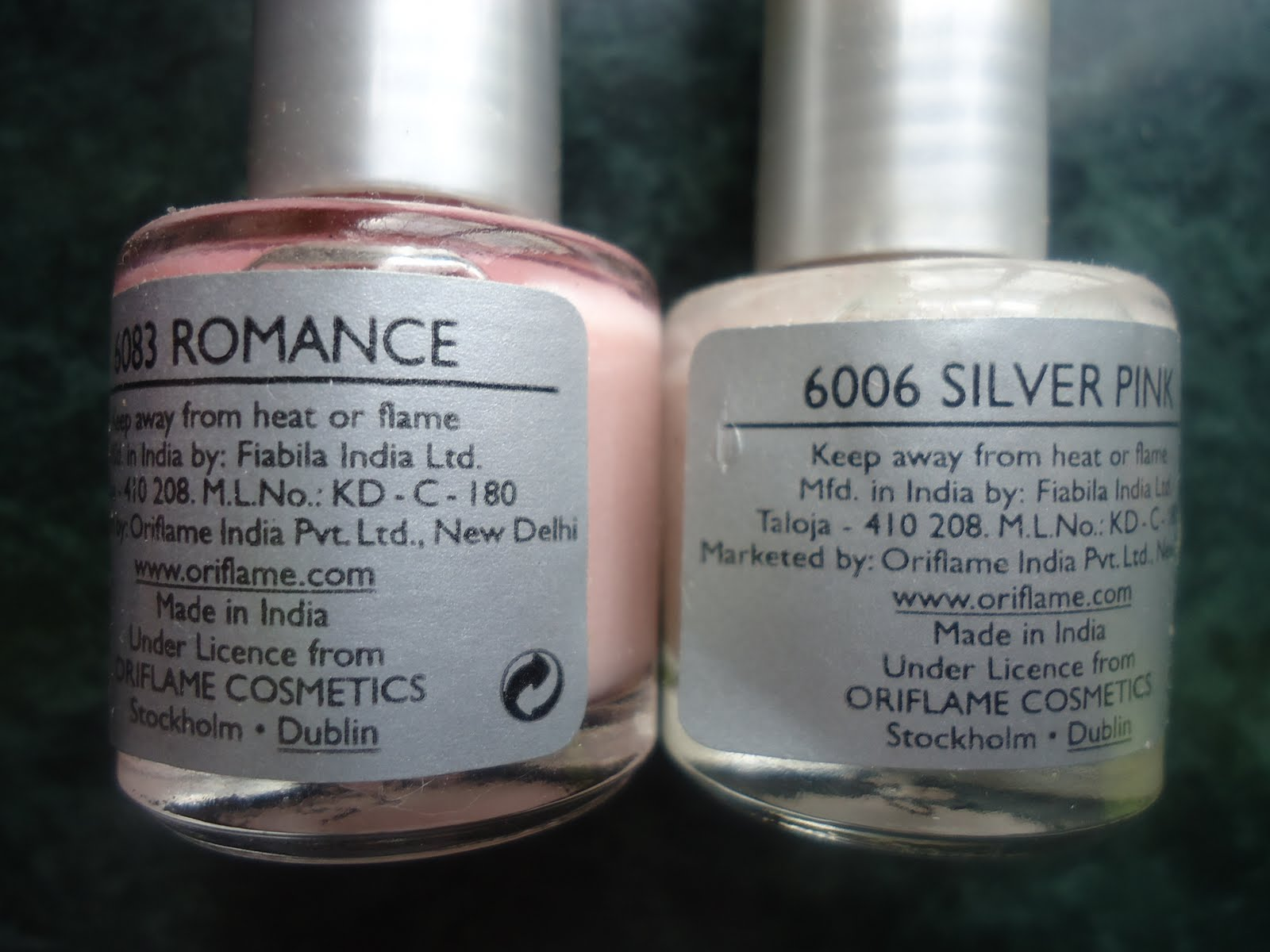 Oriflame Visions Nail Polish Review, Swatches | New Love - Makeup