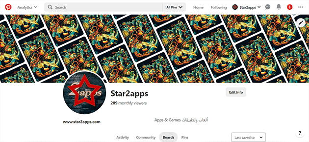 Star2apps Pinterest
