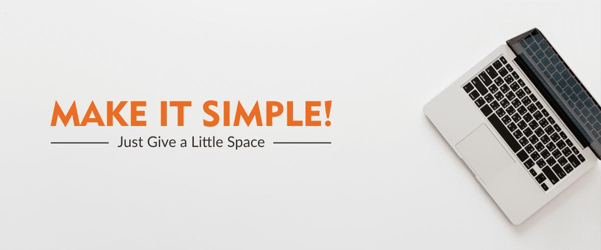 9 Trik Desain Grafis PRO - Berikan Space/Ruang Kosong