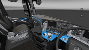 Blue Black Steel Interior for Mercedes Actros 2014