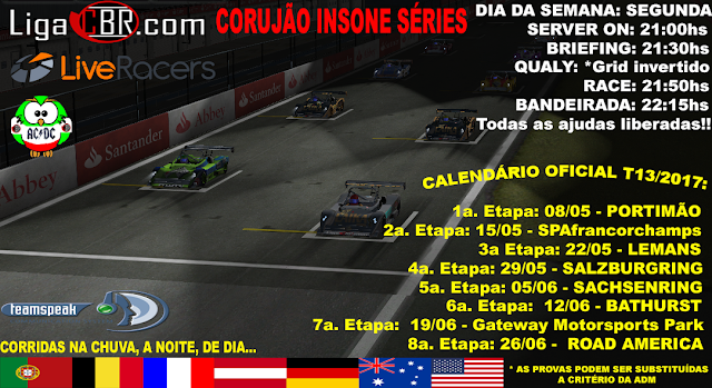 Adm do Corujão Liga CBR publica o novo calendário de competições!