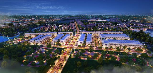 Phối cảnh tổng thể khu đô thị thông minh Thành Đô