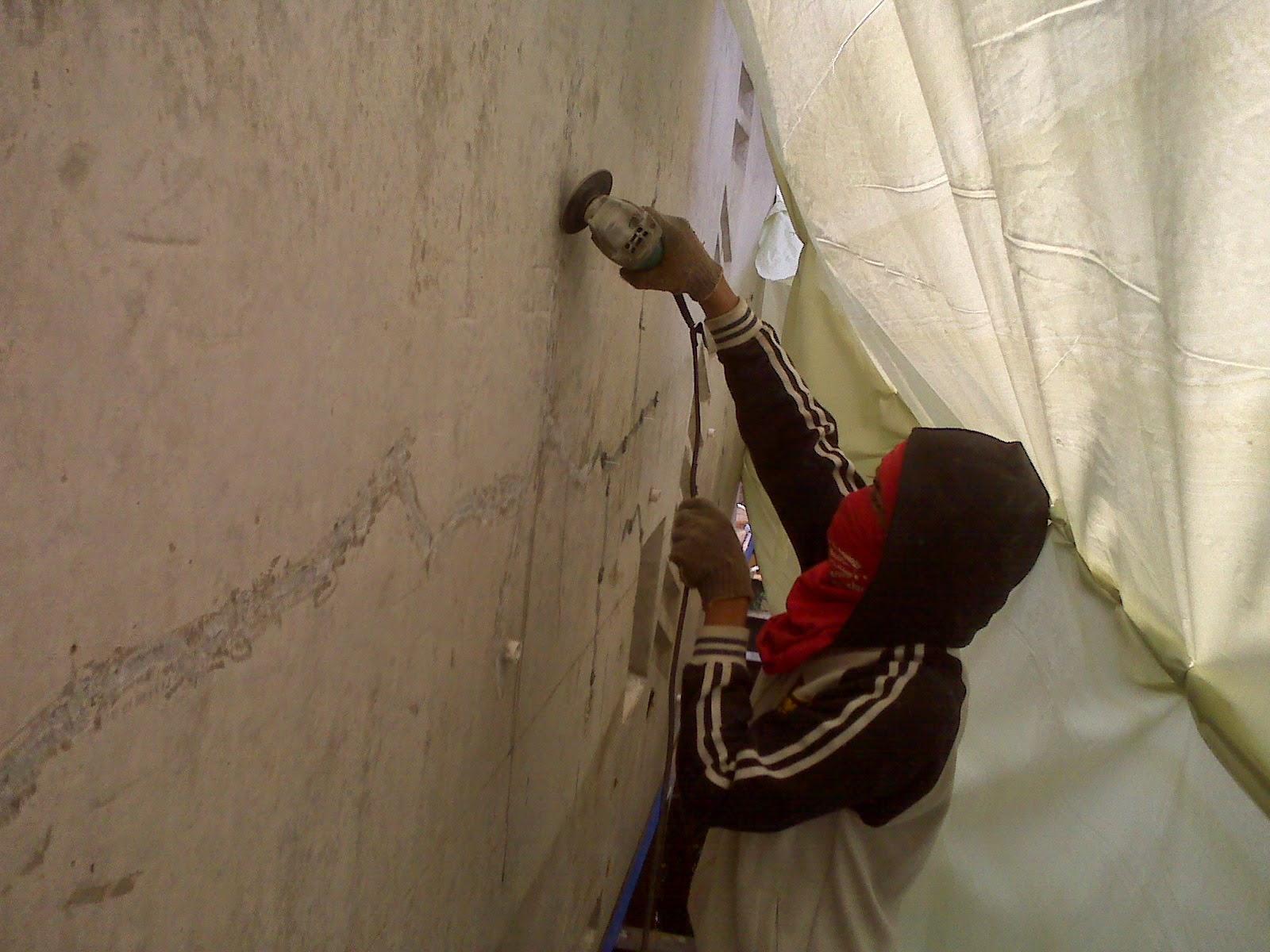 injeksi beton finishing