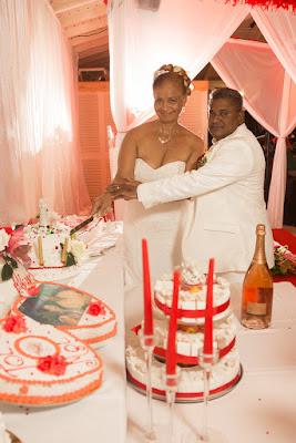 saint françois mariage en guadeloupe golf village découpe du gâteau