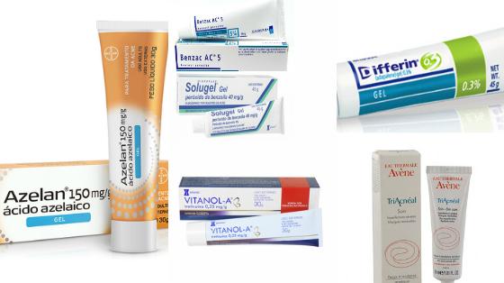 tratamentos topicos para acne