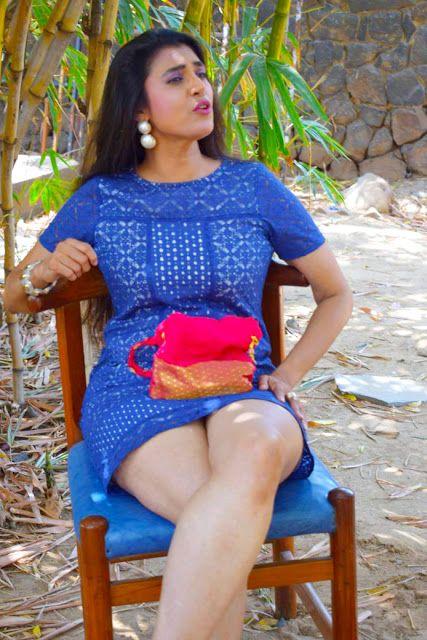 Actress Kasthuri Hot Photo Stills in Blue Skirt Actress Trend
