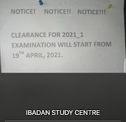 CLEARANCE FOR 2021_1 EXAMINATION