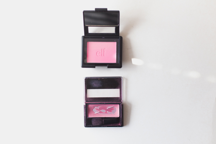vegan australis and elf pink blush