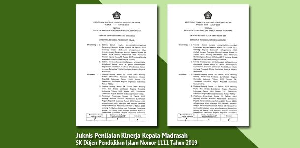 Juknis Penilaian Kinerja Kepala Madrasah
