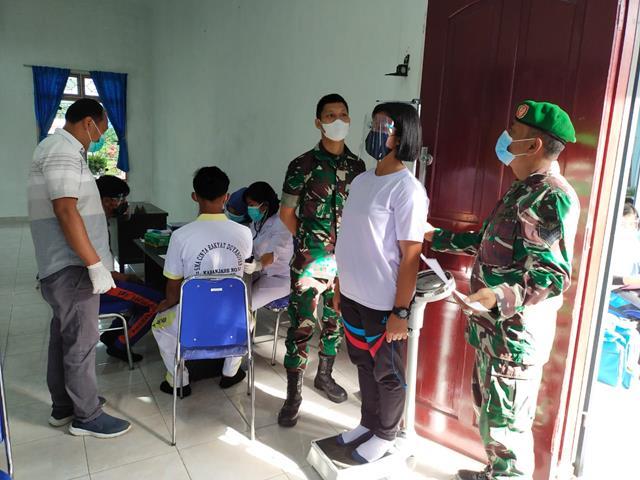 Personel Jajaran Kodim 0207/Simalungun Laksanakan Seksi Penyeleksian Terhadap Siswa-siswi Untuk Paskibra