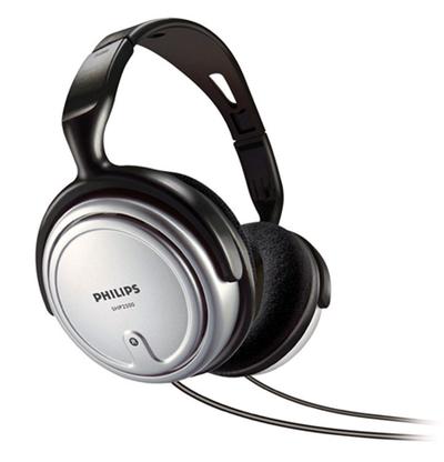 As grandes conchas do fone de ouvido Philips SHP2500 proporcionam um isolamento do barulho externo
