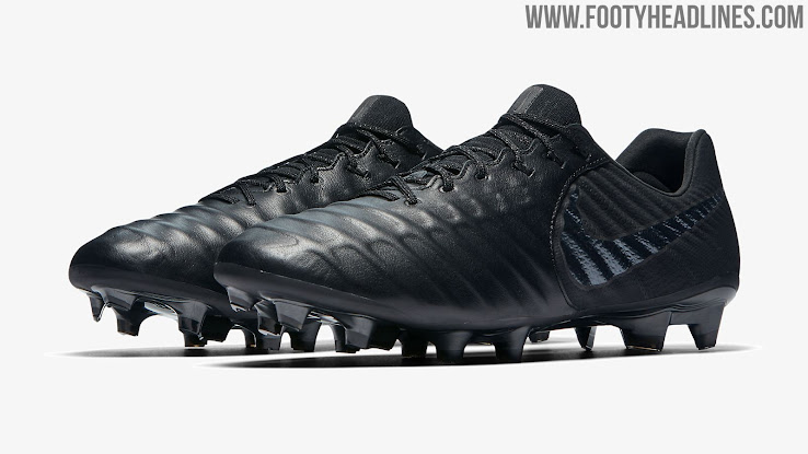 big sale 1ff0b adc77 Blackout Nike Tiempo Legend VII Stealth Ops Boots Released ...