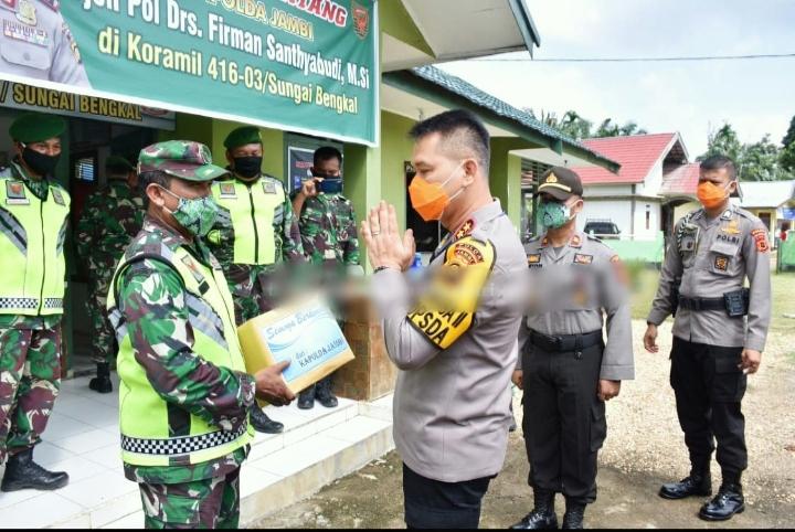 Kapolda Jambi Laksanakan Silaturahmi Sinergitas Ke Koramil 416-03 Sungai Bengkal
