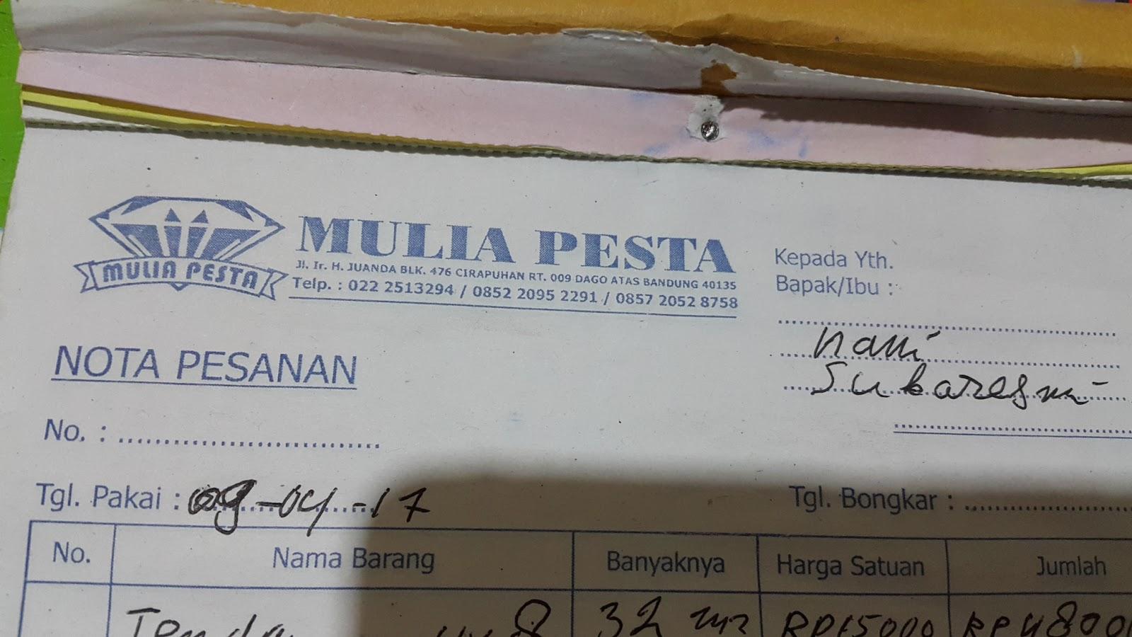 Mulia Pesta Tempat Sewa Alat Pesta Dago Bandung